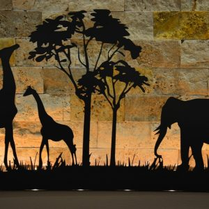 Quadruble Duble Fil Zürafa Dekoratif 6'lı Mumluk Şamdan
